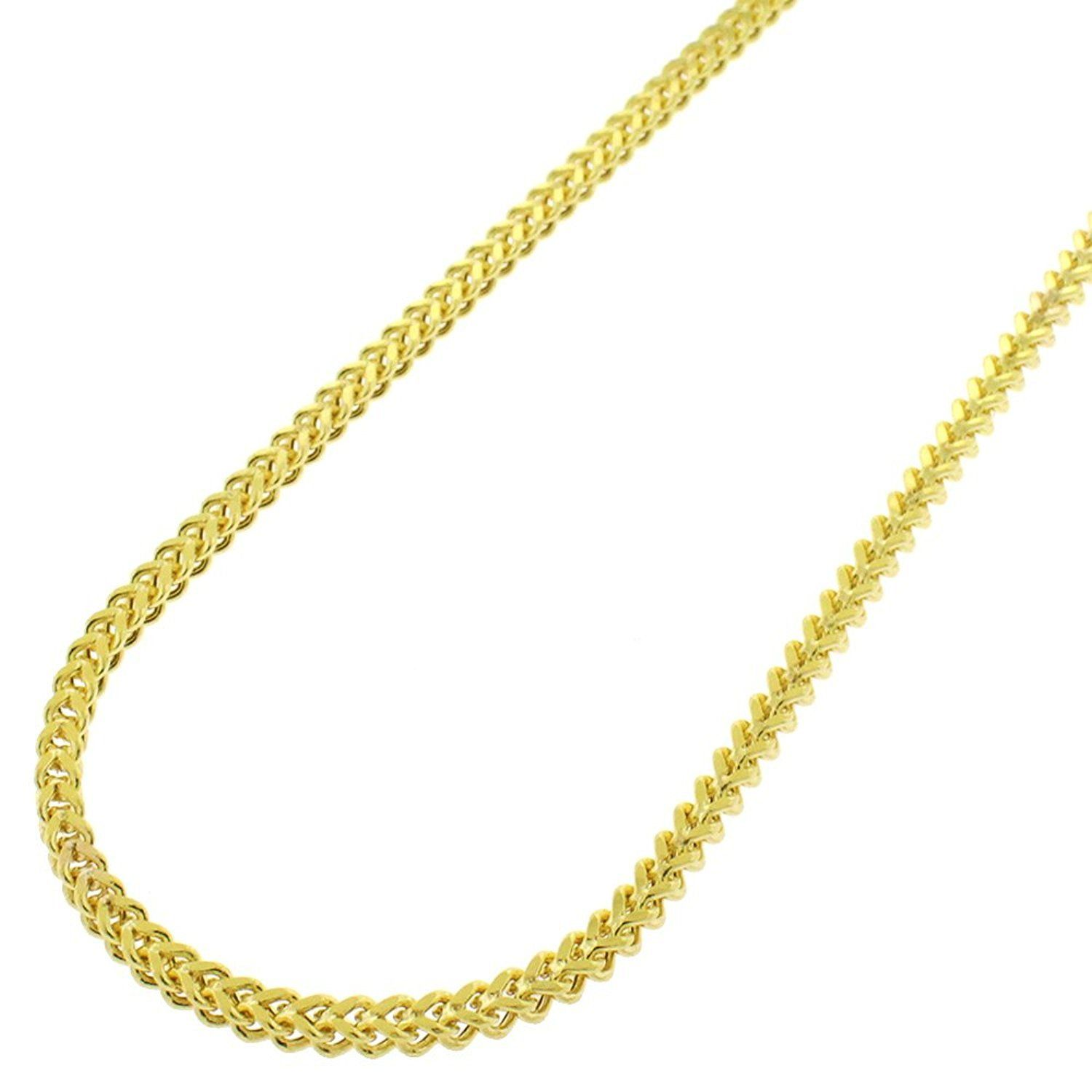 Mcs Jewelry 10 Karat Yellow Gold Hollow Franco Chain 24 Affiliate Mcs Chains Necklace Link Necklace Necklace