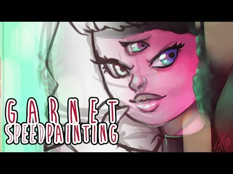 [Speed Painting] Garnet Steven Universe- 400 Subscribers special - YouTube
