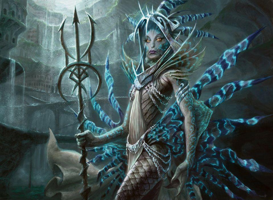 return to ravnica artwork spoiler mermen merfolk and mermaids