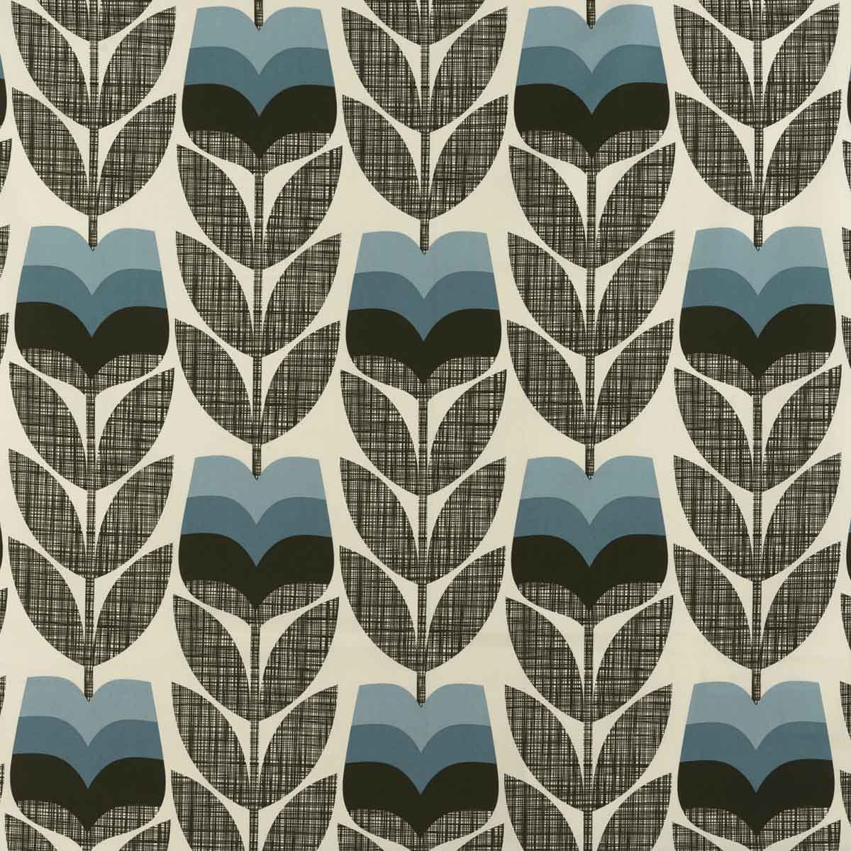 Orla Kiely Rosebud Powder Blue Curtain Upholstery Fabric