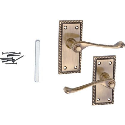 Value Georgian Lever Latch Handle Antique Brass At Homebase Be Inspired And Make Your House A Home Buy Now Door Handles Homebase Handle