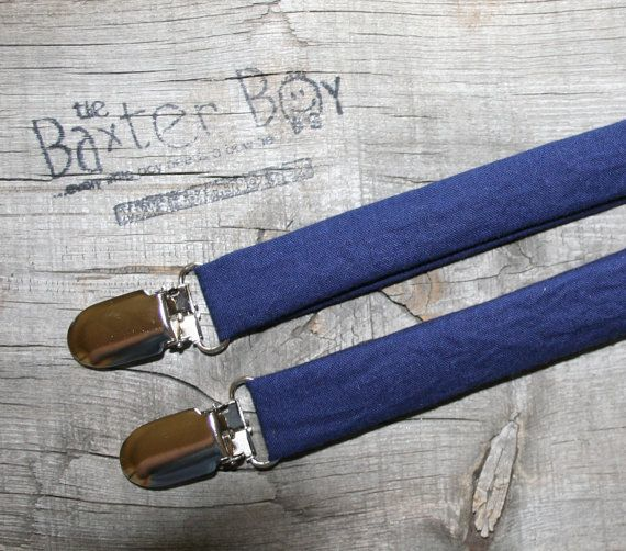 Solid Navy little boy matching suspenders photo by TheBaxterBoy, $15.00