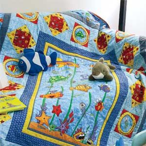 Deep Sea Pals: Ocean-Theme Kids Quilt Pattern Designed by HEIDI ... : theme quilts - Adamdwight.com