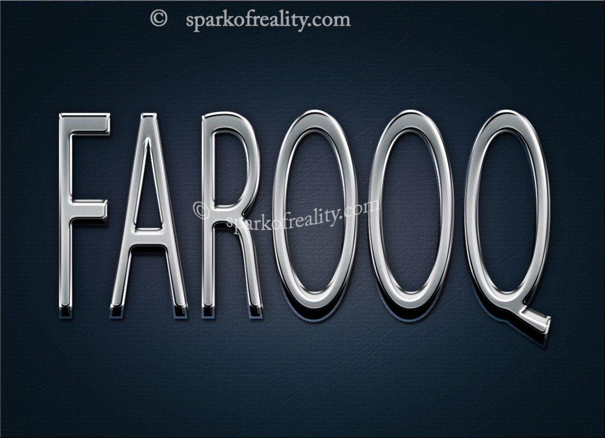 Farooq Name Wallpaper Text Art Wallpaper