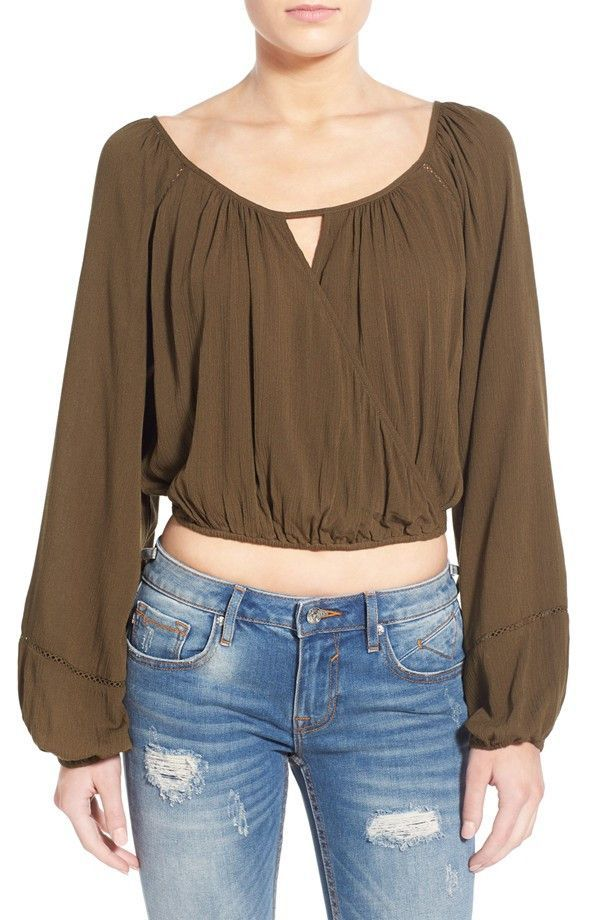 eaa33dafcf4a7 Crop Crossover Blouse