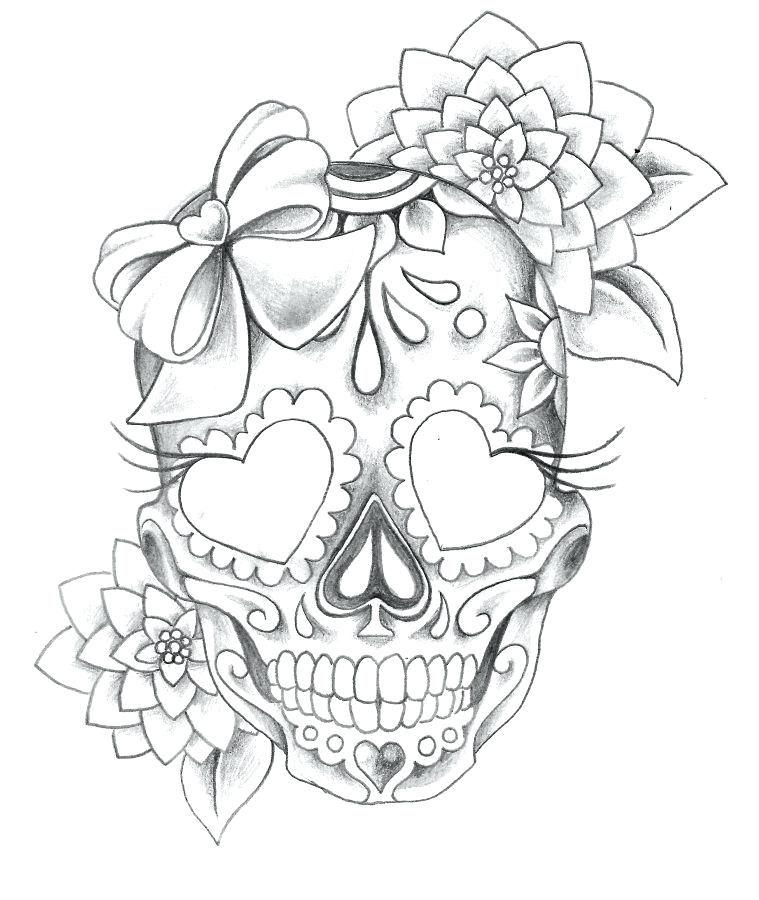 Resultado De Imagen De Black And White Sugar Skull Girl Tattoo Sugar Skull Tattoos Skulls Drawing Mexican Skull Tattoos