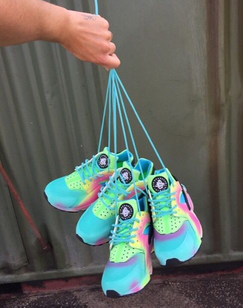 1b4a2ca2a Nike Air Huarache Pastel Colour Sneakers Trainers Dope Footwear Marney Boi  Customs
