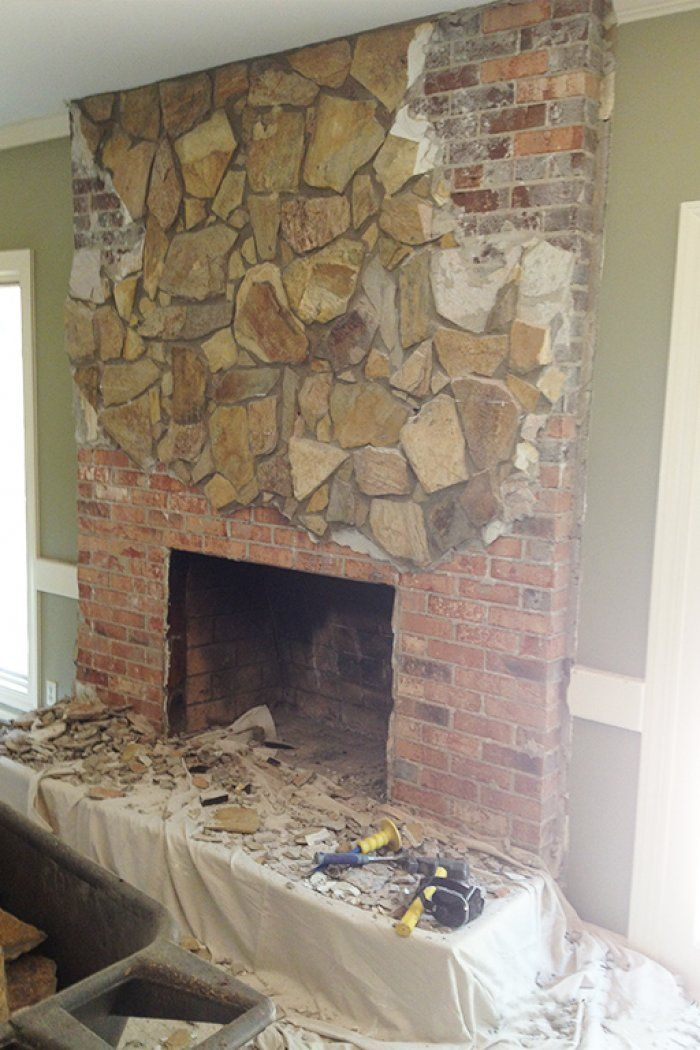 Concrete Industrial Fireplace Remodel Meets Cozy Chic | Demolition ...