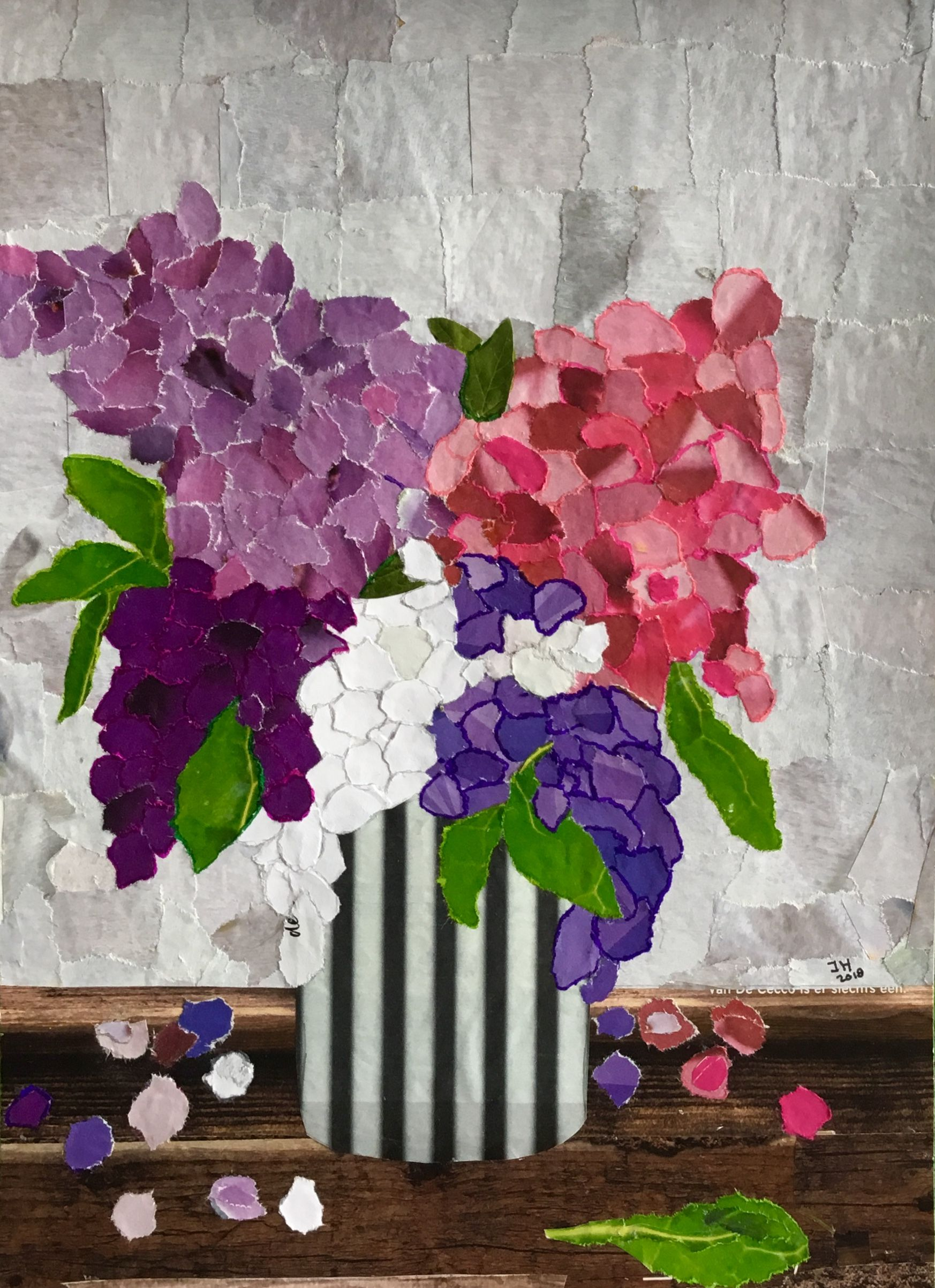 Torn Paper Collage Flowers Flowers Flowers Pinterest Collage
