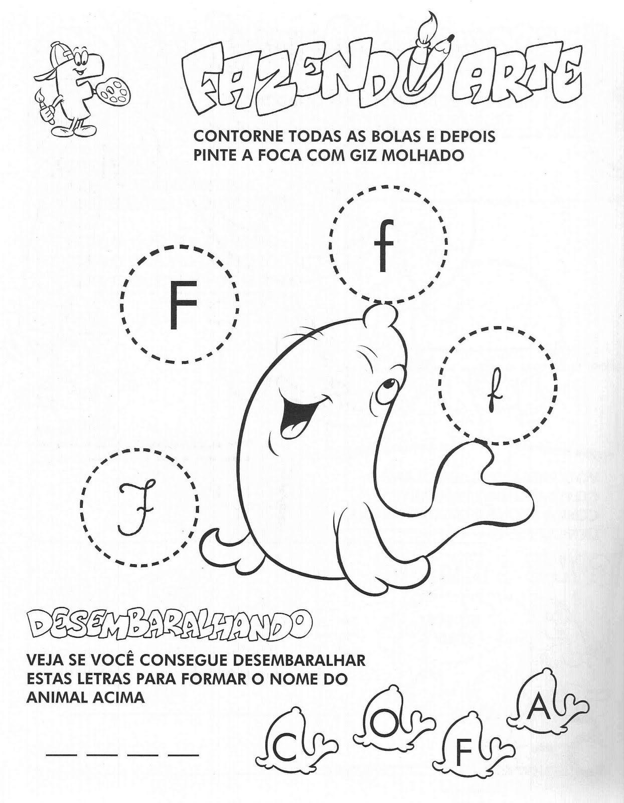 Atividades Com A Letra F Educacao Infantil Letra F Educacao
