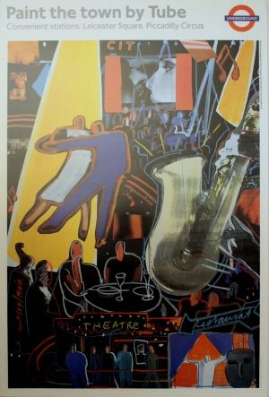 London Underground Paint the Town, 1980s - original vintage poster by Huntley Muir listed on AntikBar.co.uk