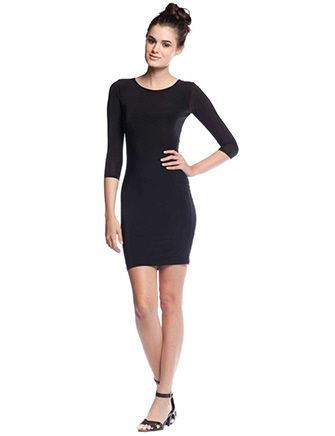 TBAGS LOS ANGELES 3/4 Sleeve Bodycon Dress