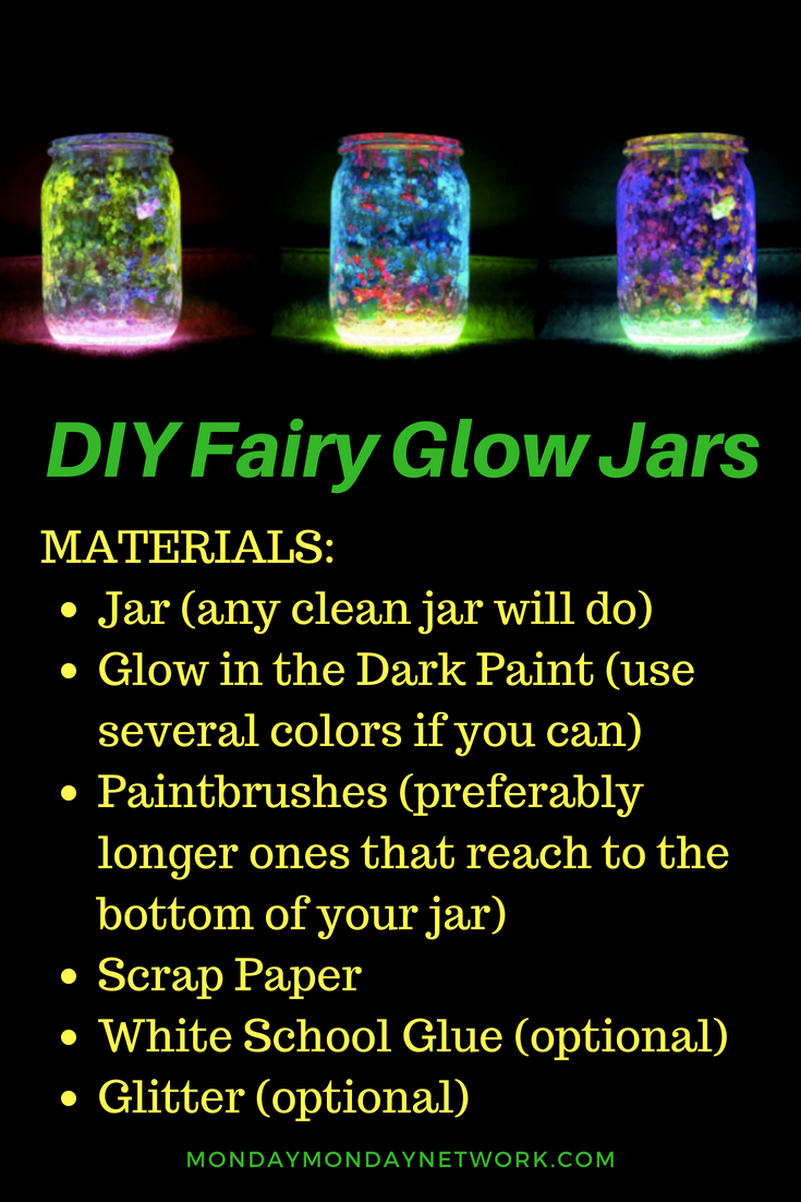 These Diy Fairy Glow Jars Are An Easy Idea That You Can Complete In Under 30 Minutes All Need To Do Is Set Up Your Supplies And Get Work