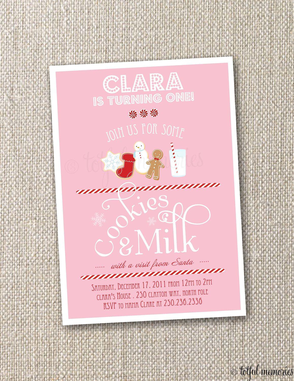 DIY Printable Birthday Invitation Cookies u0026 Milk