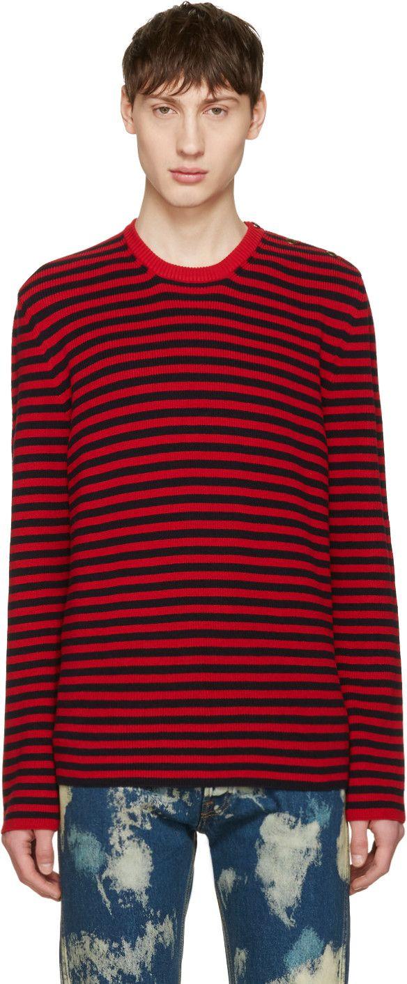 GUCCI Red & Black Stripes Sweater. #gucci #cloth #sweater | Gucci ...