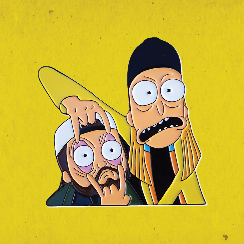 Jay And Silent Bob X Rick And Morty Crossover Enamel Pin In 2020