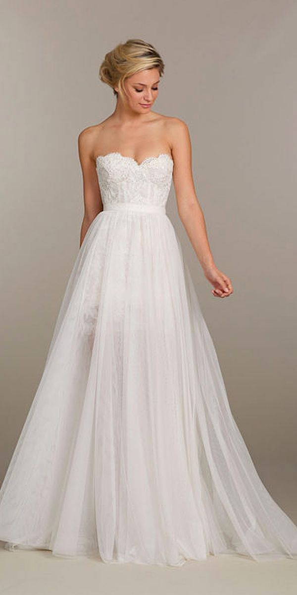 24 wedding dresses with gorgeous sweetheart neckline