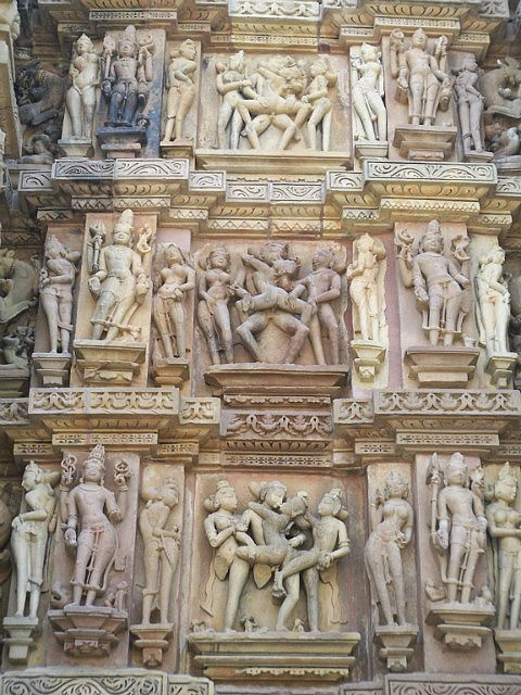 A sampling of the erotic carvings on wall
