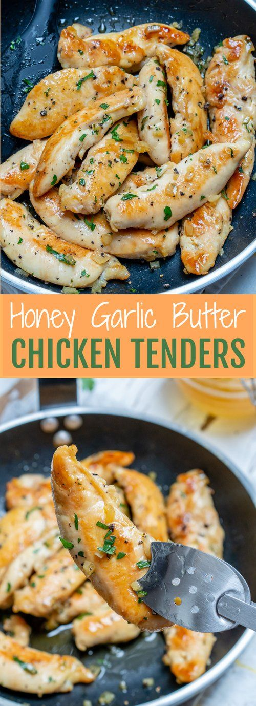 Honey Garlic Butter Chicken Tenders #cleaneating