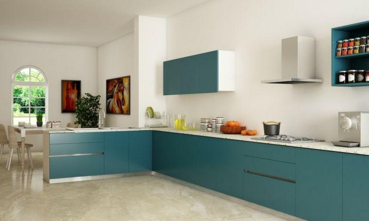 Como distribuir una cocina - ideas y consejos prácticos - Color