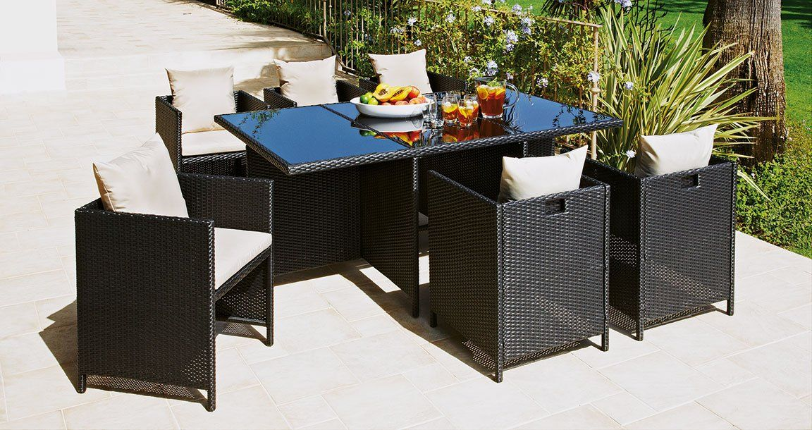 Treat your garden with this Rattan cube set from #Argos
