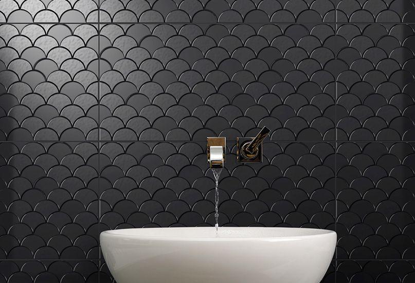 Sc Infinity Koi Pepper Fish Scale Tile Bathroom Fish Scale Tile Scallop Tile Bathroom