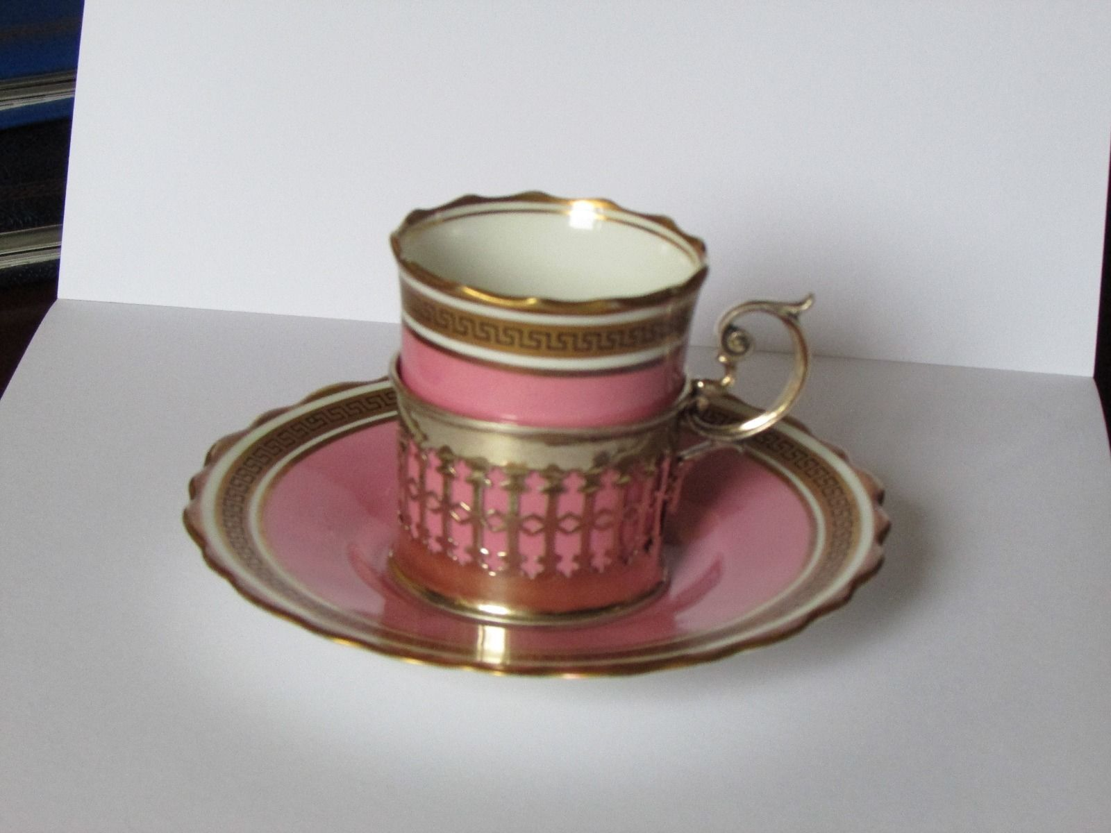 Aynsley porcelain coffee can in silver holder | eBay