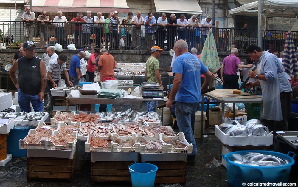Catania's market in Piazza Carlo Alberto, Sicily, Italy and Fish Markets from Around the World – Photo Essay