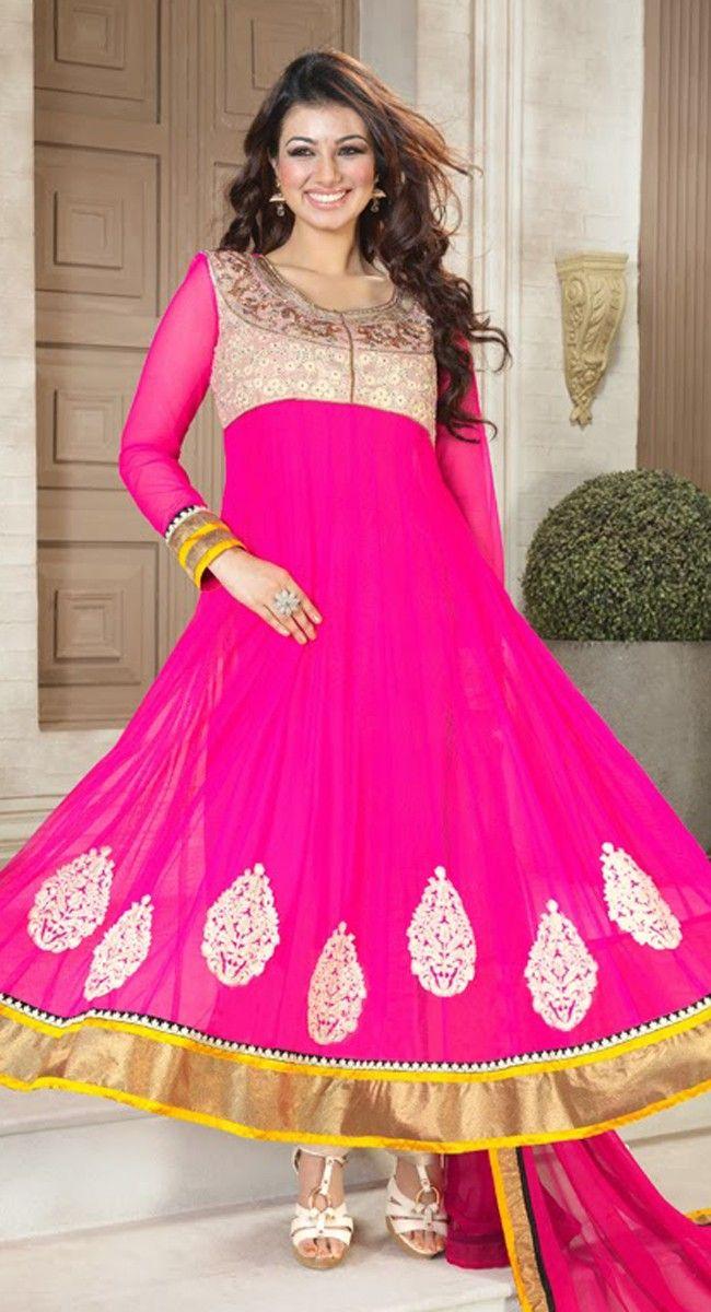 aa1bec784b Alluring Deep Pink Salwar Kameez Anarkali Dress, Anarkali Suits, Long  Anarkali, Latest Salwar