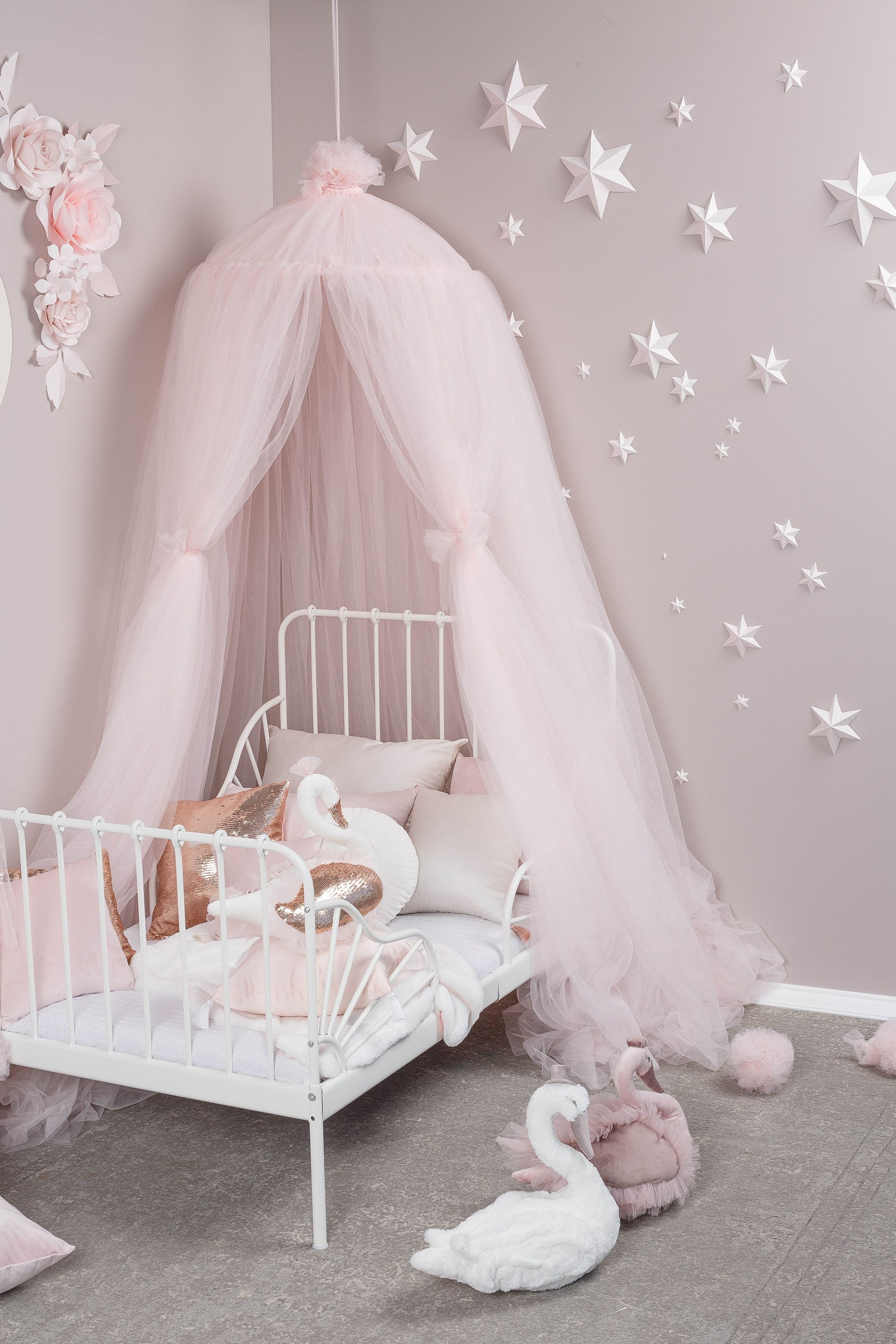 Bed Canopy Baldachin Tulle Canopy Pink Canopy Play Room Canopy Canopy For Nursery Kids Canopy Tent Ca Pink Kids Bedrooms Toddler Girl Room Pink Playroom