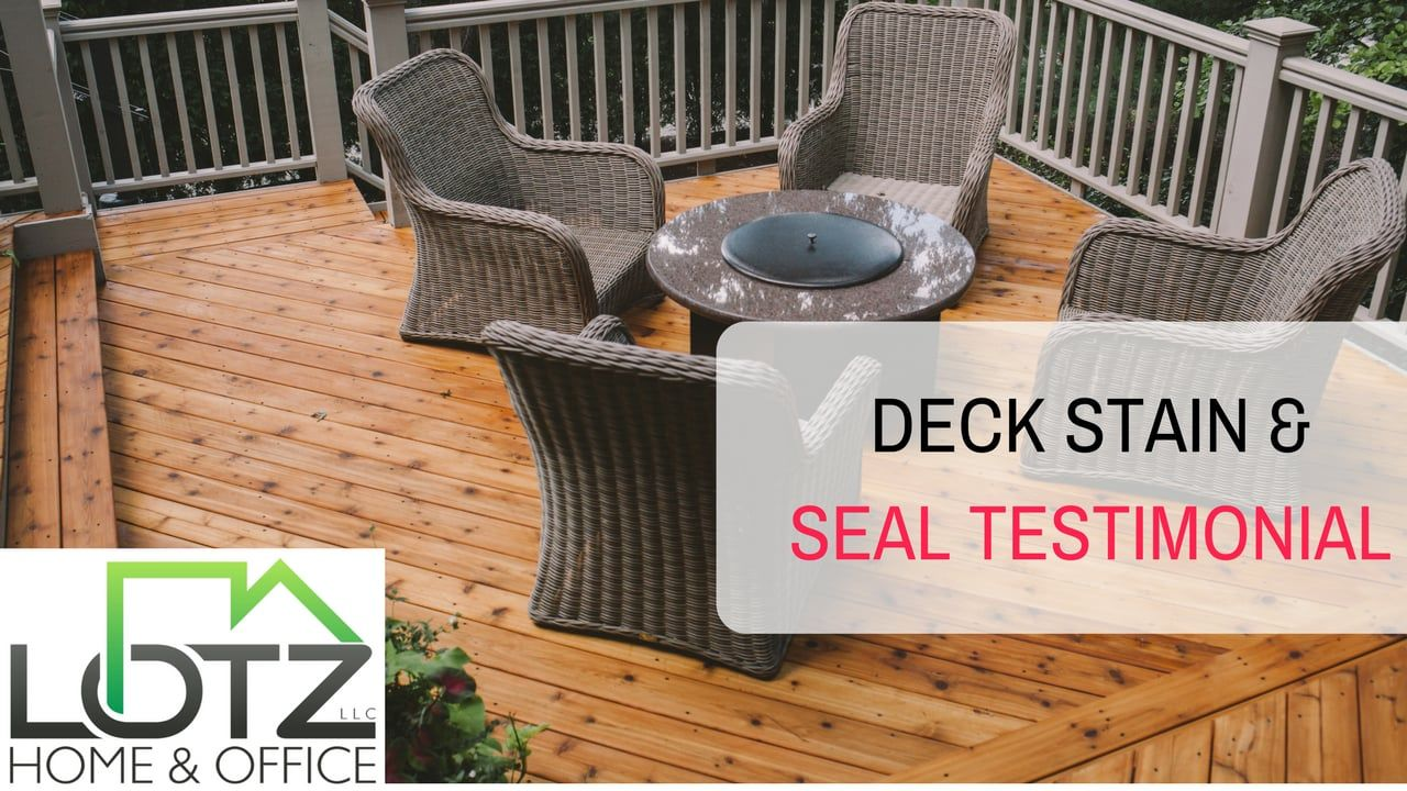 Http Www Marklotz Com Deck Stain Seal Deck Stain And Seal Testimonial Deck Staining Is Vital To The Health An Staining Deck Deck Maintenance Deck Sealing