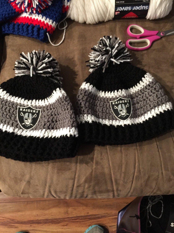 5519fccf Raiders Beanie, team beanie, team hat, crochet hat | Sport ...
