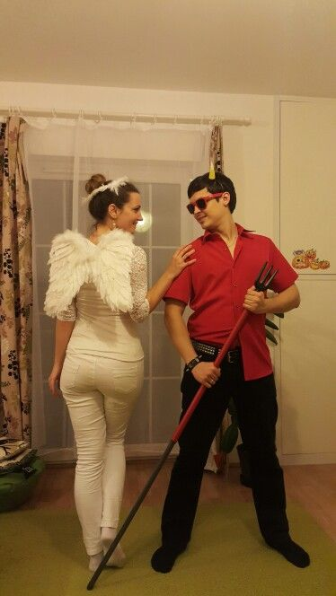 Best Halloween Couple Costume Angel And Devil -6031