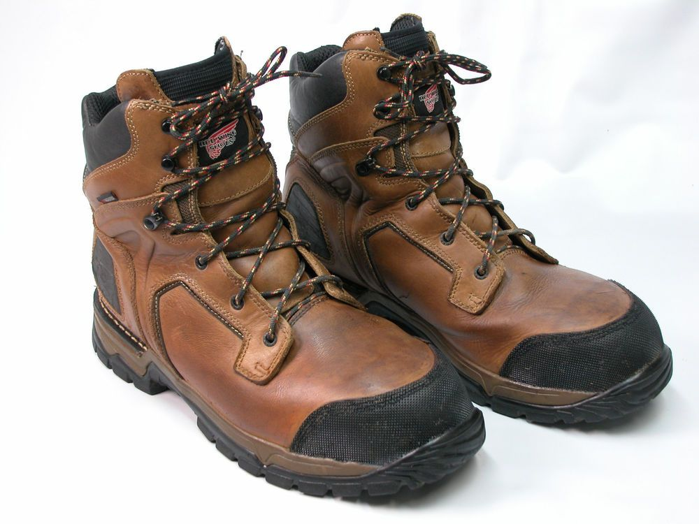 Mens Steel Toe Waterproof Boot M Brown Leather Boots 14 D