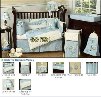 Under The Sea Nursery Theme Baby Bedding Tropical Fish Ocean