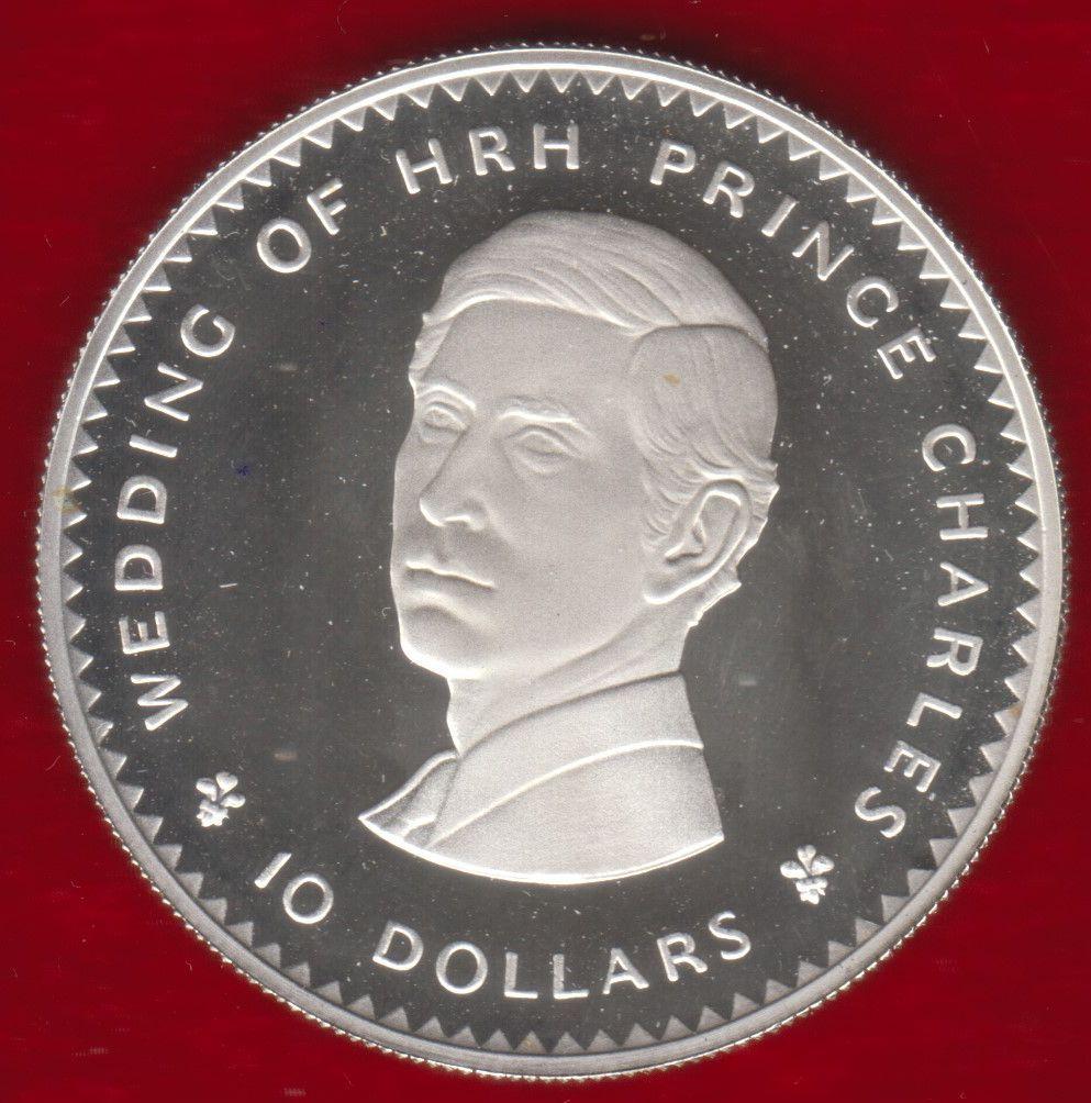 Fiji 10 Dollars Charles Diana Royal Wedding Silver Proof