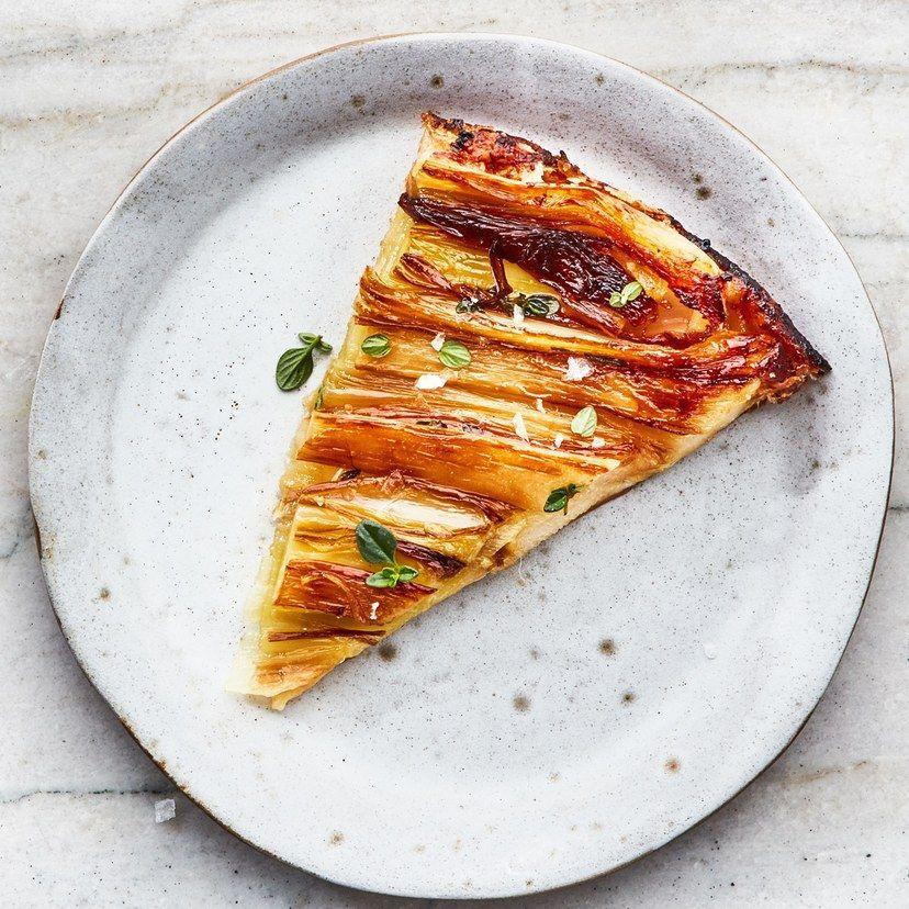 UpsideDown Caramelized Leek Tart Recipe in 2020 Food