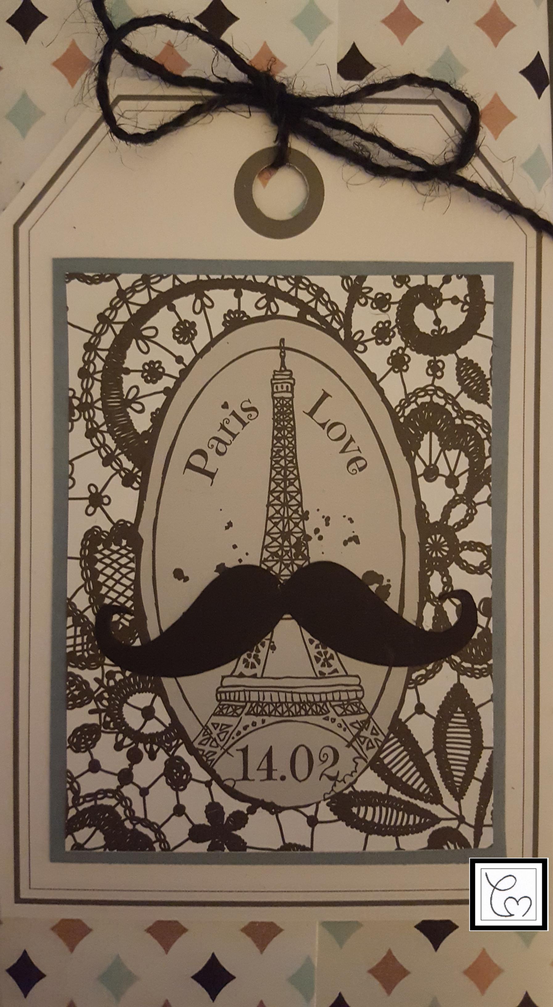 Une étiquette cadeau pour homme. Encore avec le kit cardmaking Vivigade acheté chez Zodio. Simple et rapide.