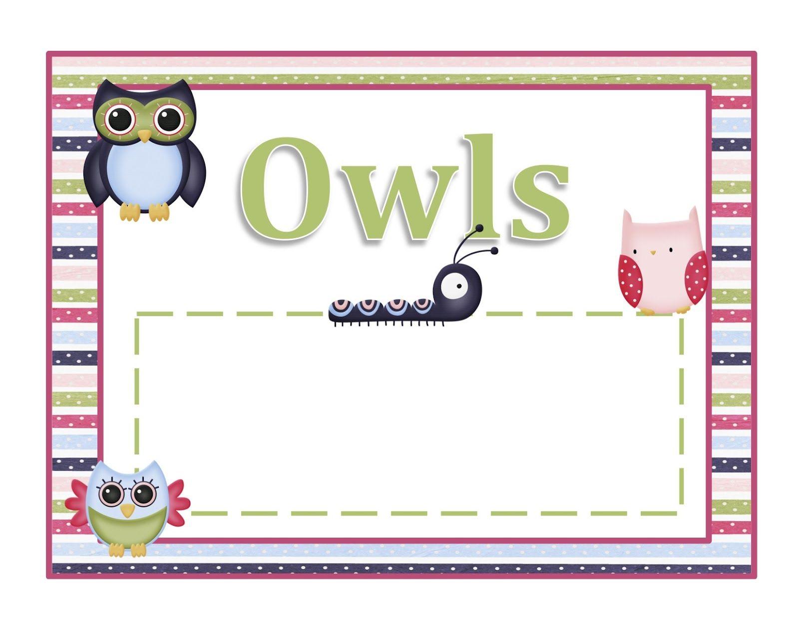 Preschool Printables Owl Printable