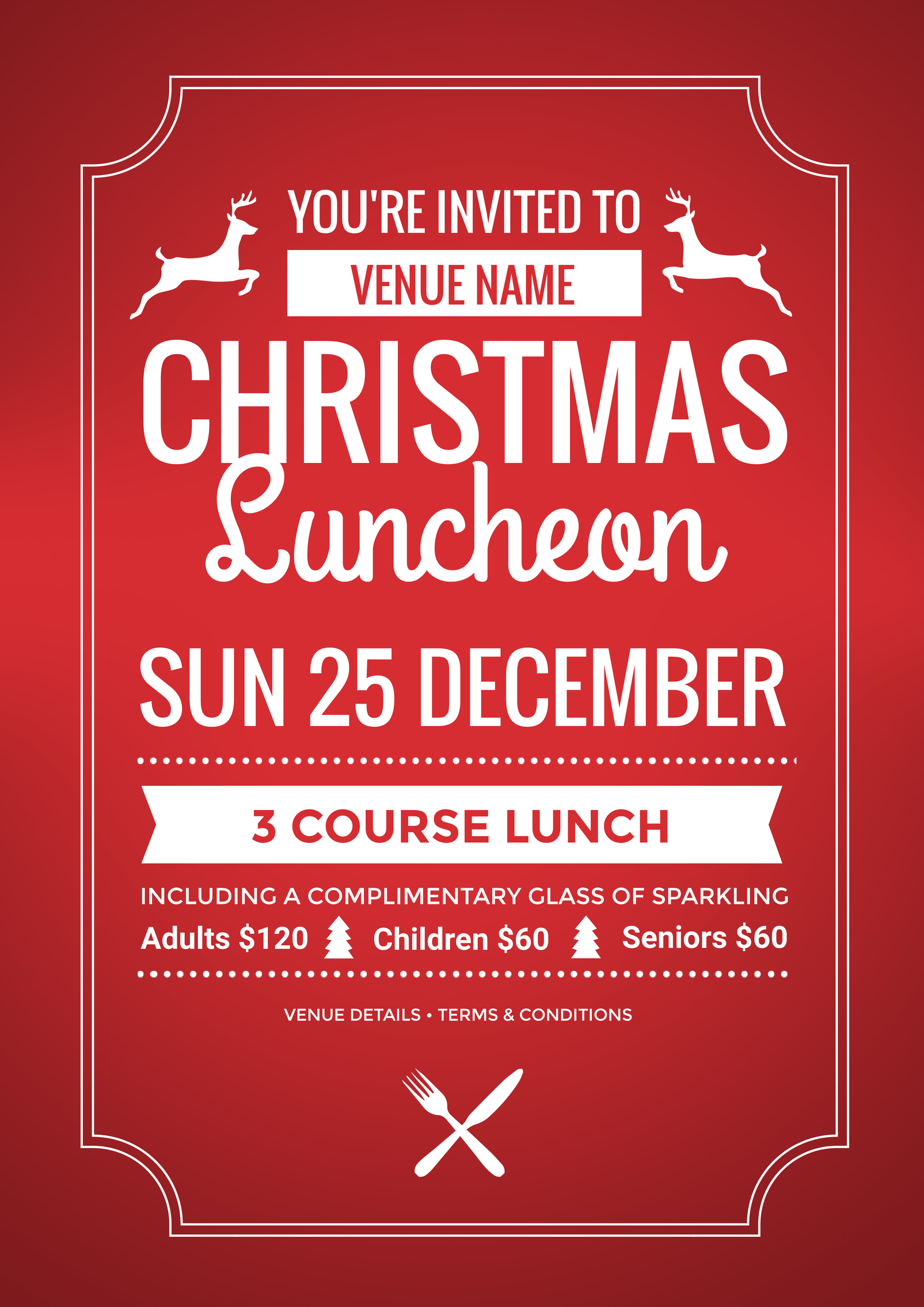 use this christmas luncheon promotional template for your event this