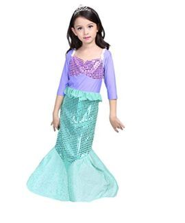 bcac37330127 sophiashopping Girls Kids Little Mermaid Princess Party Dress Costume  #Princess #Halloween #Costume