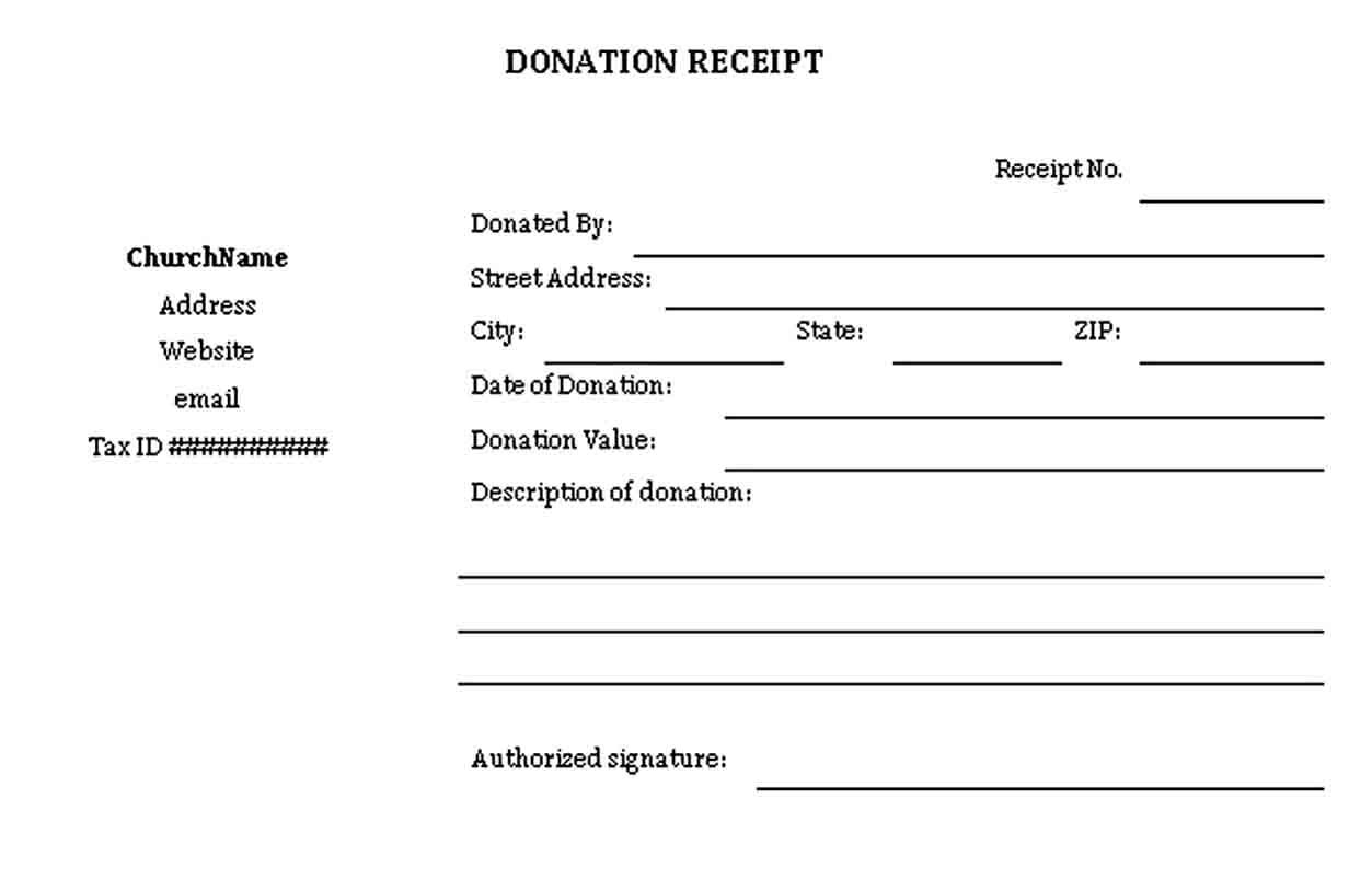 Sample Donation Receipt Receipt Template Business Template Receipt