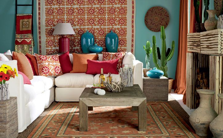 Mexican Living Room | House Ideas | Pinterest | Mexican ...