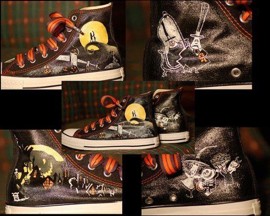 Nightmare Before Christmas Custom Shoes