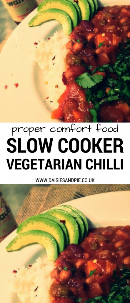 Easy Slow Cooker Vegetarian Chilli