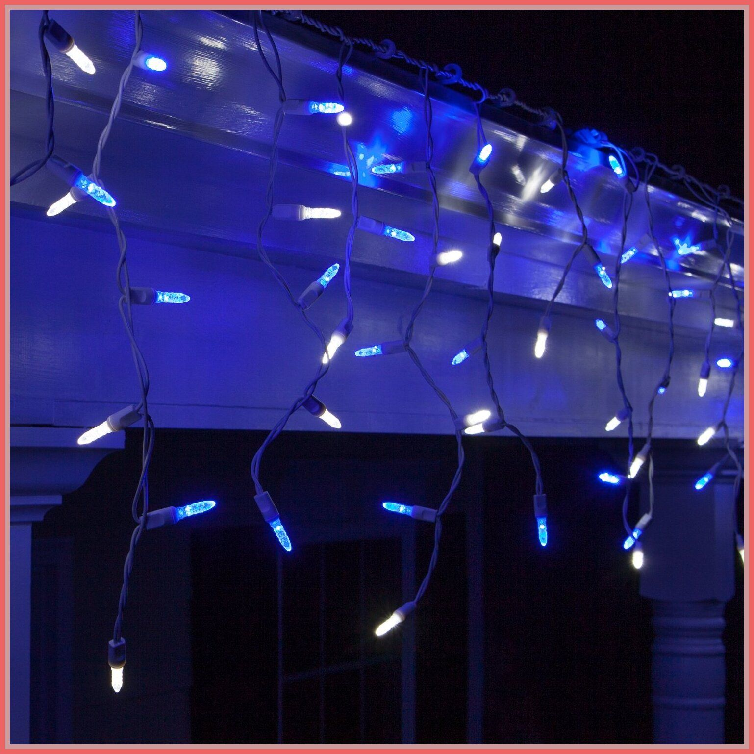 82 Reference Of Led Icicle Lights Bright White In 2020 White Christmas Lights Led Icicle Lights Icicle Lights Outdoor