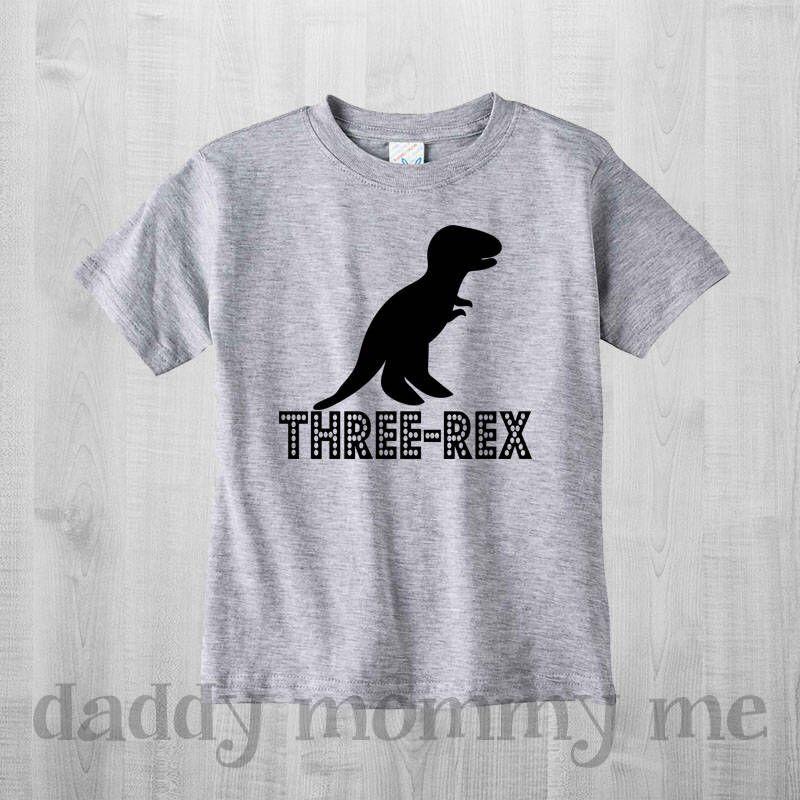 Three Rex Birthday Shirt Dinosaur Boy Clothes 3rd 3