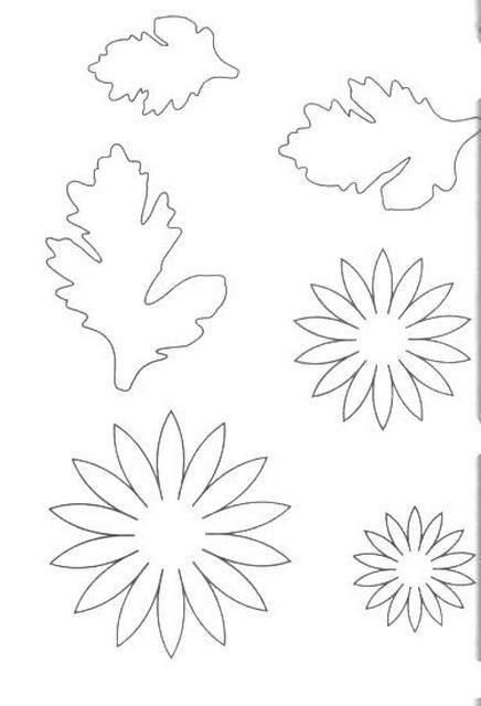 Выкройки для цветов и листьев