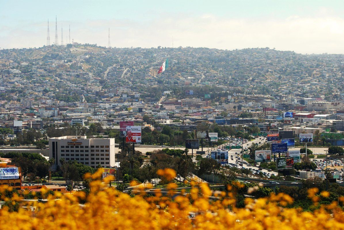 the mexican flag in tijuana can be seen prominently from the u s
