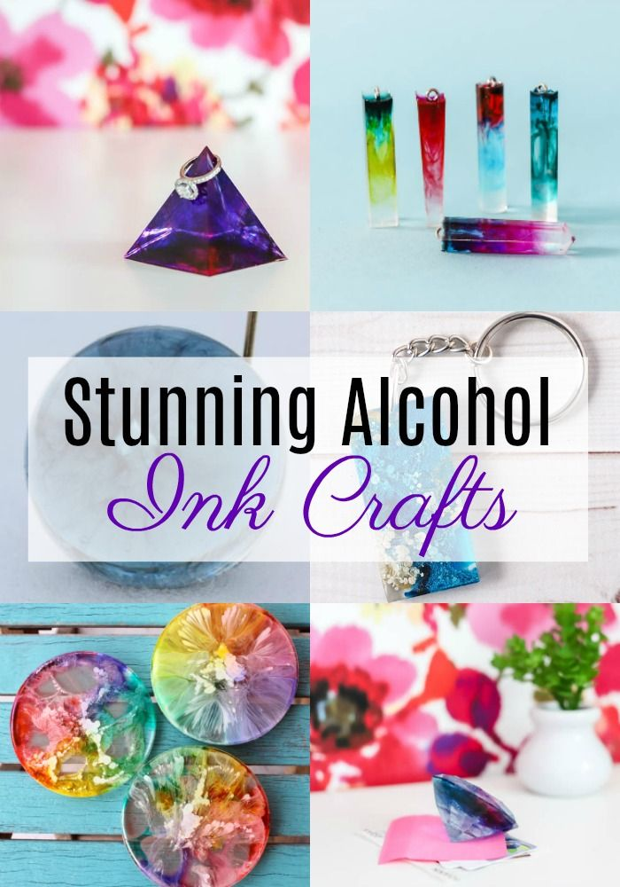 Stunning Alcohol Ink Crafts #alcoholinkcrafts